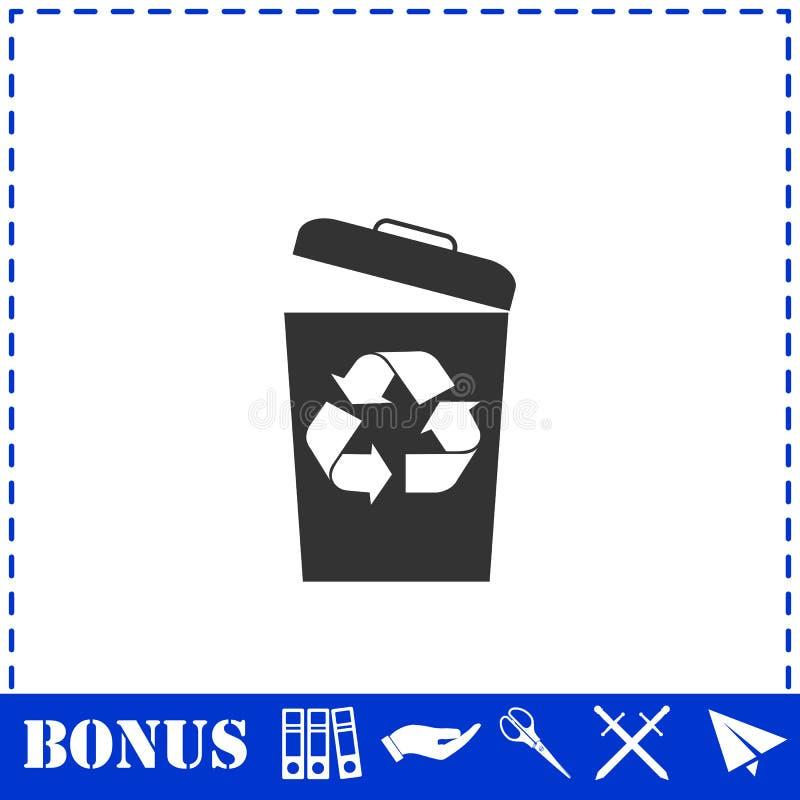 ?cone do escaninho de lixo horizontalmente ilustração do vetor