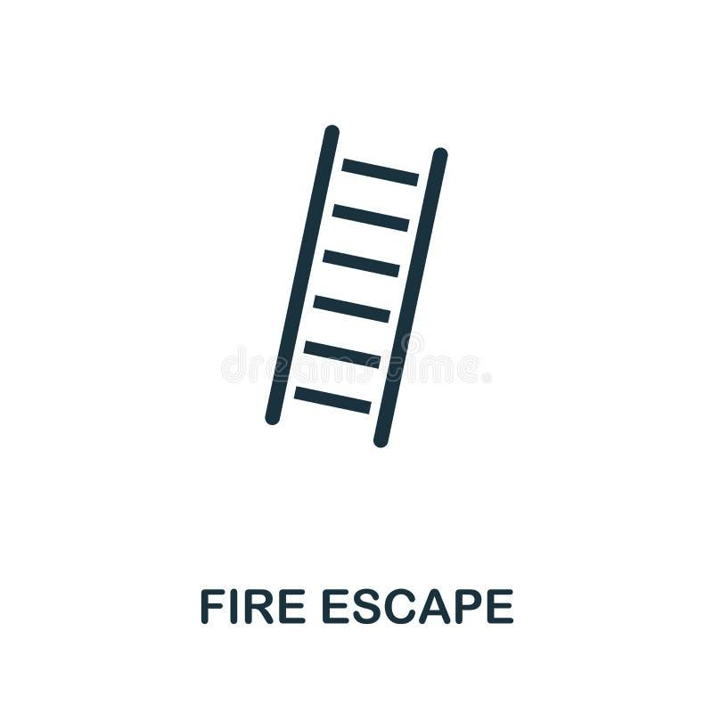 ?cone do escape de fogo Projeto criativo do elemento da coleção dos ícones da proteção contra incêndios Ícone perfeito do escape  ilustração royalty free