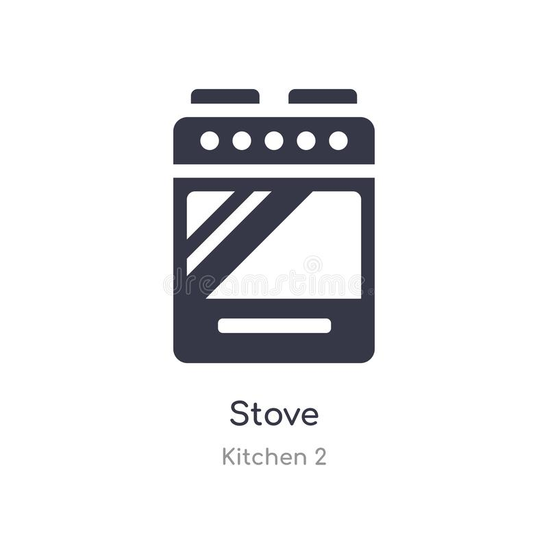 ?cone do fog?o ilustração isolada do vetor do ícone do fogão da coleção da cozinha 2 edit?vel cante o s?mbolo pode ser uso para o ilustração do vetor