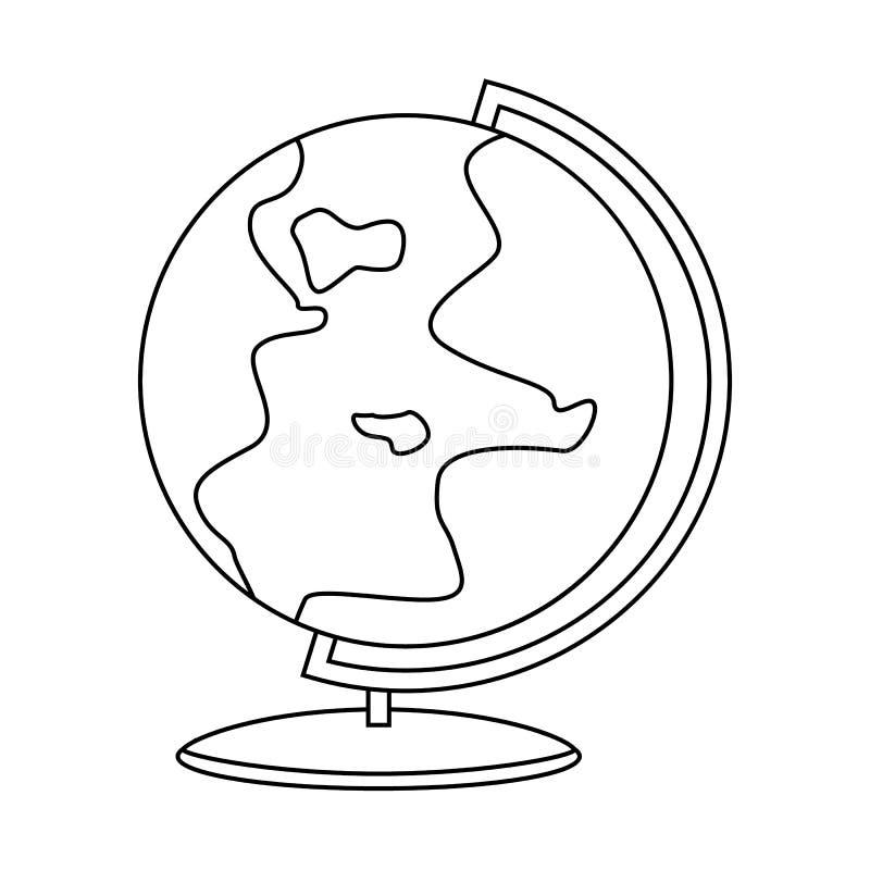 ?cone do globo do esbo?o Conceito do planeta S?mbolo da terra ilustração royalty free