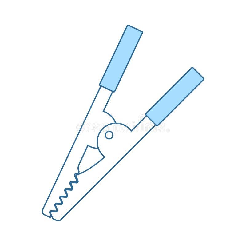 ?cone do grampo do crocodilo ilustração royalty free