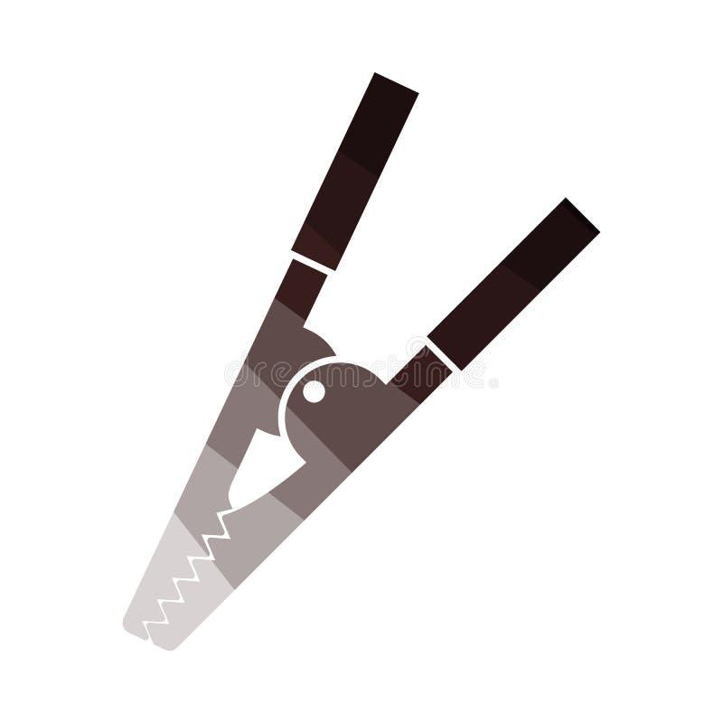 ?cone do grampo do crocodilo ilustração do vetor