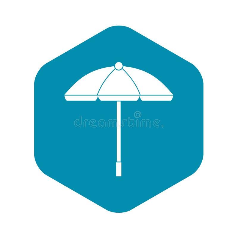 ?cone do guarda-chuva de Sun, estilo simples ilustração royalty free