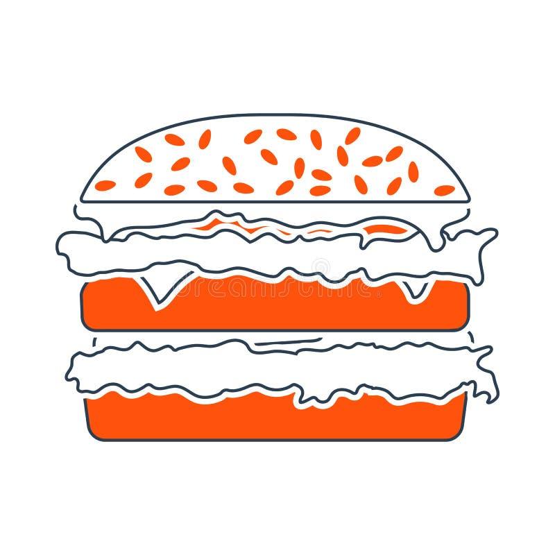 ?cone do Hamburger ilustração do vetor