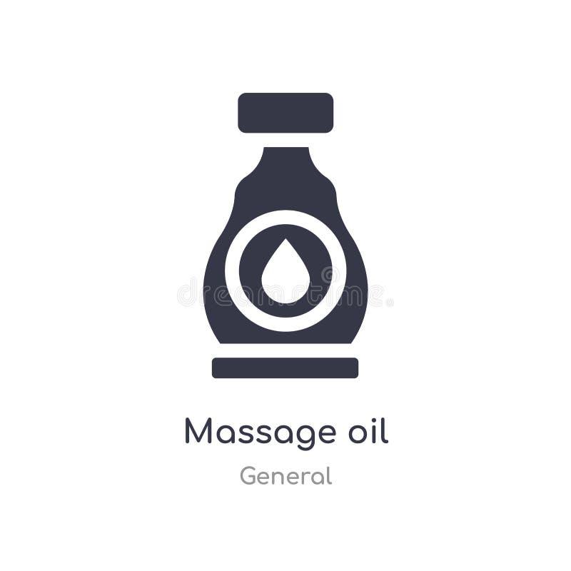 ?cone do ?leo da massagem ilustração isolada do vetor do ícone do óleo da massagem da coleção geral edit?vel cante o s?mbolo pode ilustração royalty free