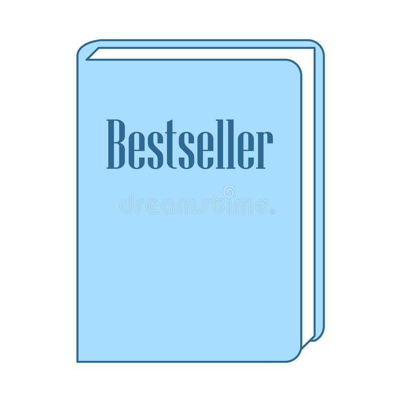 ?cone do livro do bestseller ilustração stock