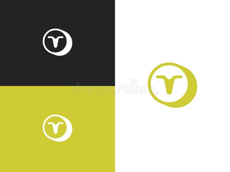 ?cone do logotipo da letra T Elementos do molde do projeto do vetor ilustração royalty free