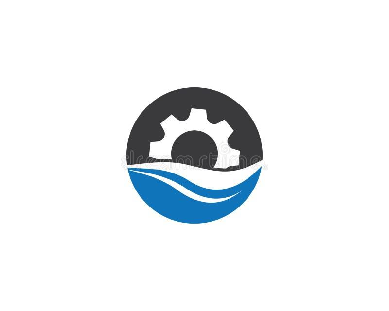 ?cone do logotipo da maquinaria da engrenagem ilustração stock