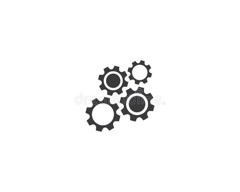 ?cone do logotipo da maquinaria da engrenagem ilustração royalty free