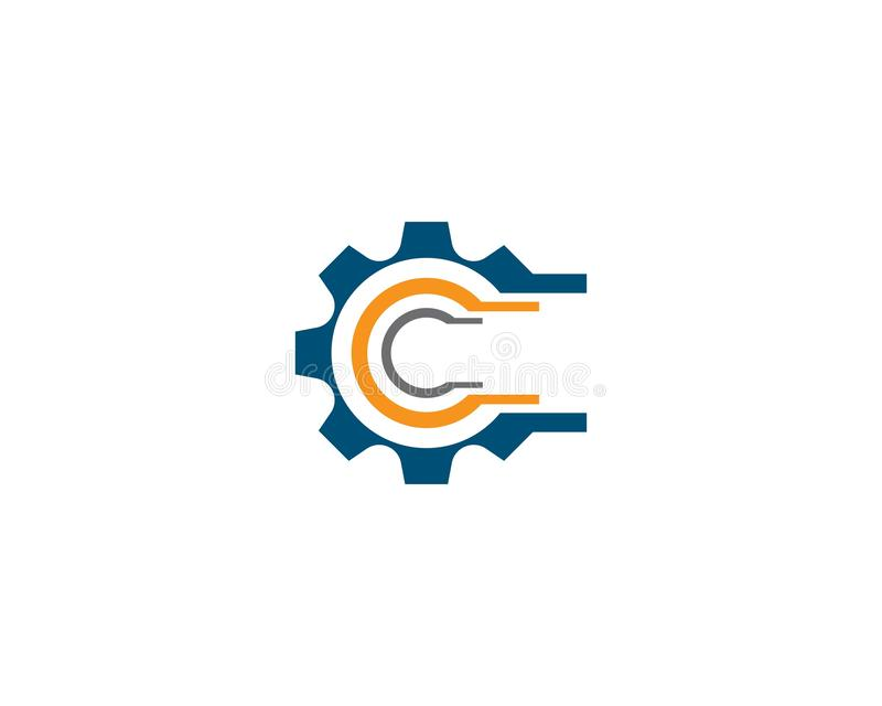 ?cone do logotipo da maquinaria da engrenagem ilustração do vetor