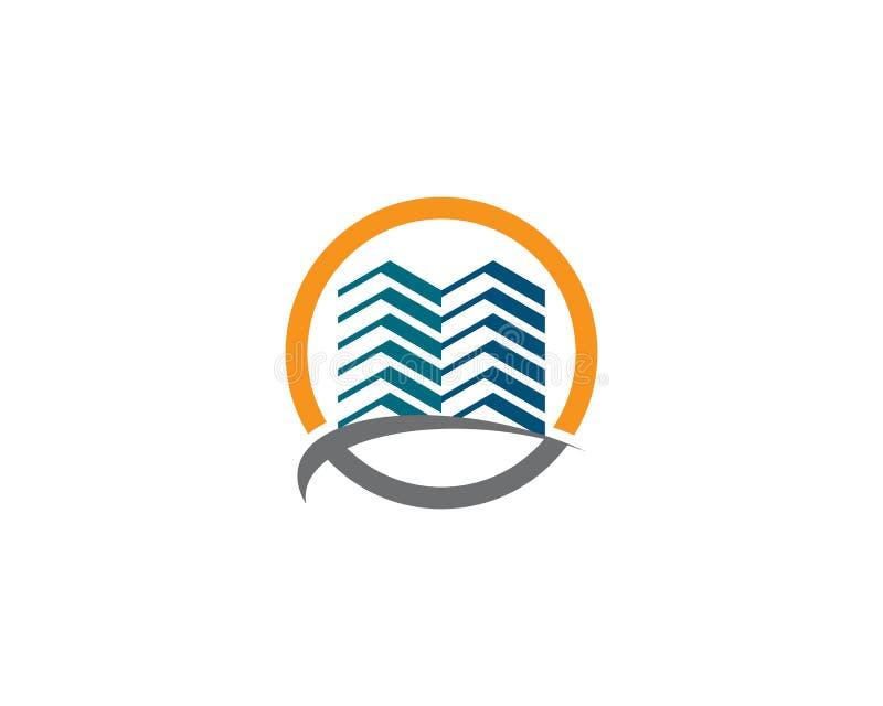 ?cone do logotipo dos bens imobili?rios ilustração stock