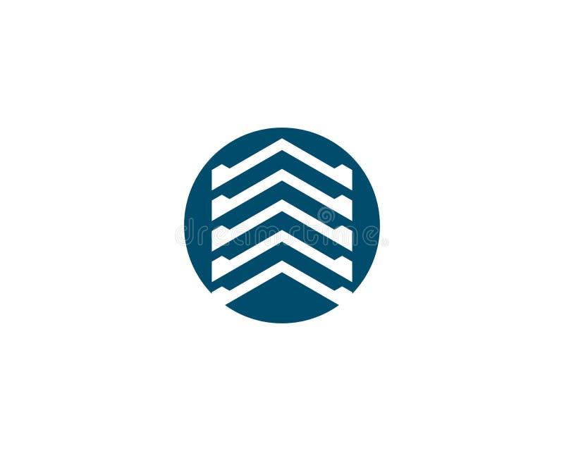 ?cone do logotipo dos bens imobili?rios ilustração royalty free