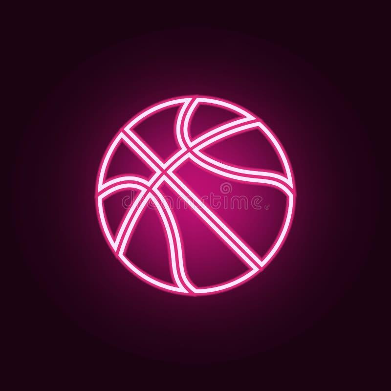 ?cone do n?on do basquetebol Elementos do grupo da Web ?cone simples para Web site, design web, app m?vel, gr?ficos da informa??o ilustração royalty free