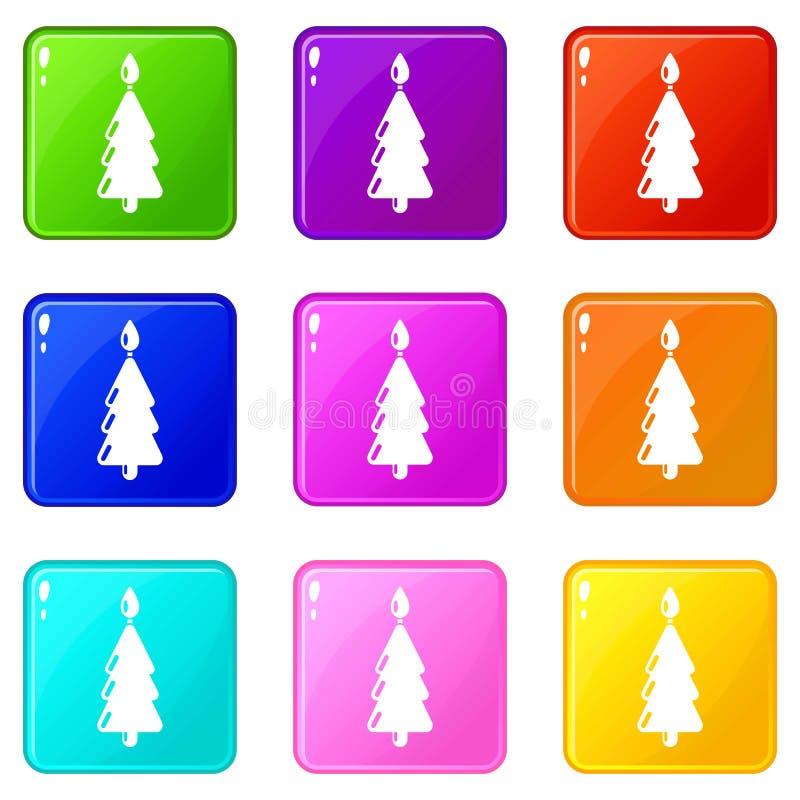 ?cone do Natal da vela, estilo preto simples ilustração do vetor