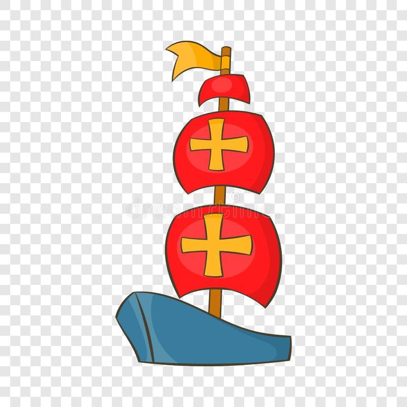 ?cone do navio de Columbo, estilo dos desenhos animados ilustração stock
