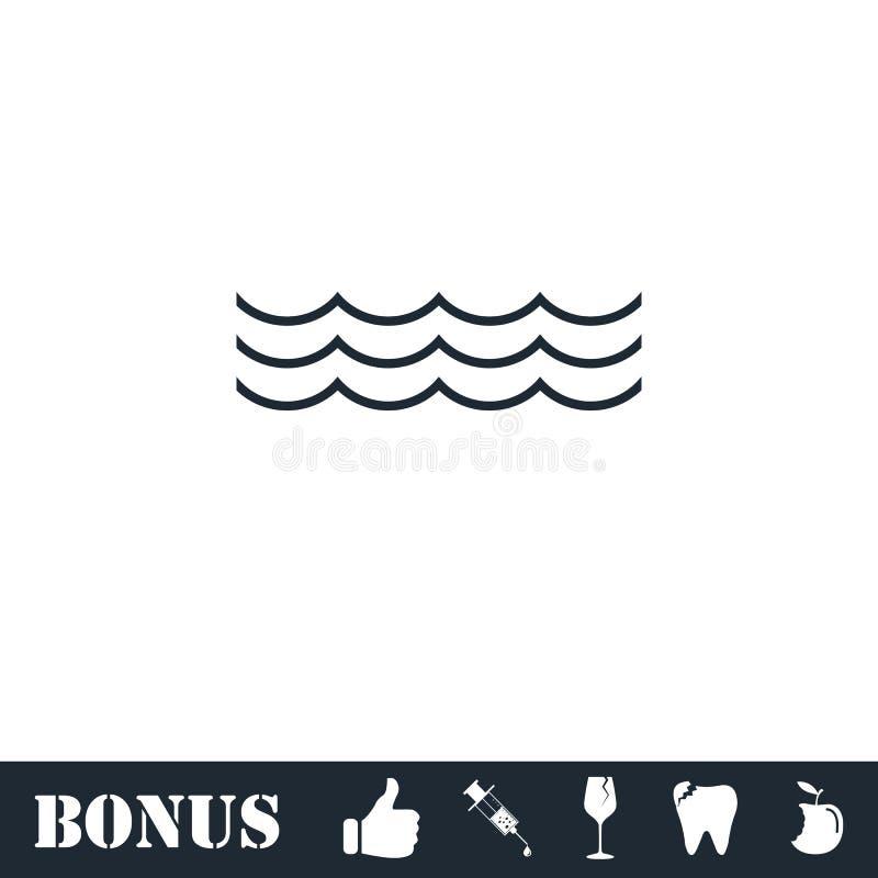 ?cone do oceano ou do mar horizontalmente ilustração stock