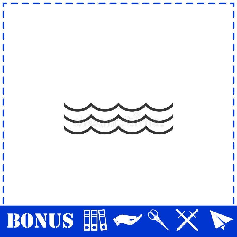 ?cone do oceano ou do mar horizontalmente ilustração royalty free