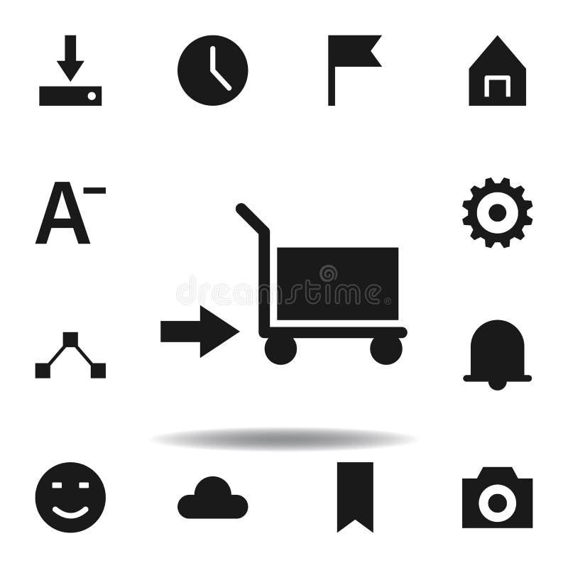 ?cone do pagamento de dinheiro do dinheiro ajuste dos ícones da ilustração da Web os sinais, símbolos podem ser usados para a Web ilustração do vetor