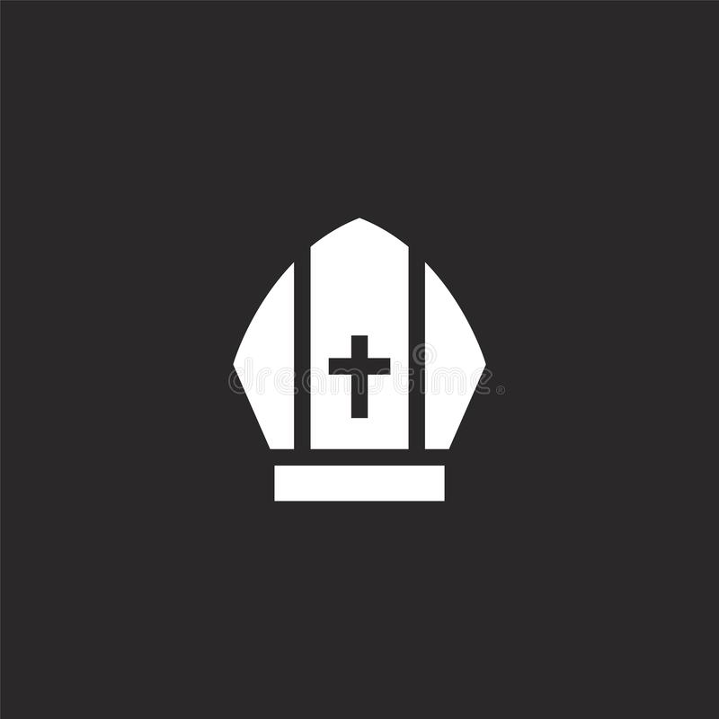 ?cone do papa Ícone enchido do papa para o projeto do Web site e o móbil, desenvolvimento do app ícone do papa da coleção enchida ilustração royalty free