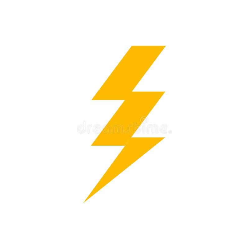 ?cone do parafuso de rel?mpago Sinal elétrico do poder instantâneo do trovão Seta rápida da ilustração do raio ilustração do vetor