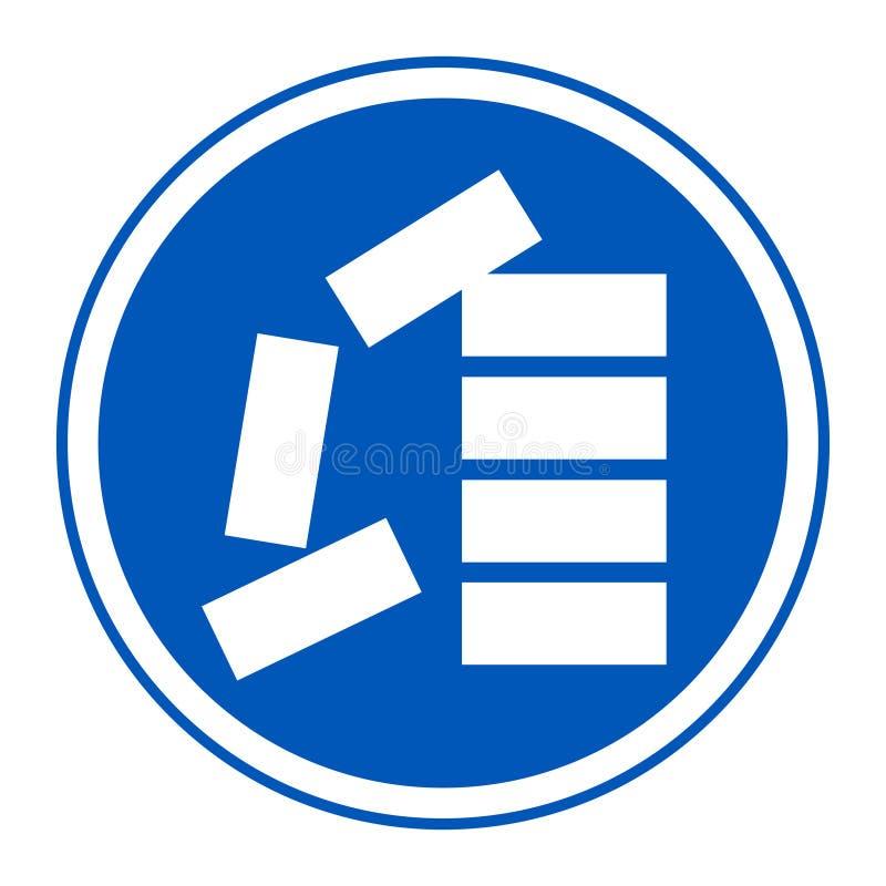 ?cone do PPE Empilhe corretamente o isolado do sinal do símbolo no fundo branco, ilustração EPS do vetor 10 ilustração royalty free