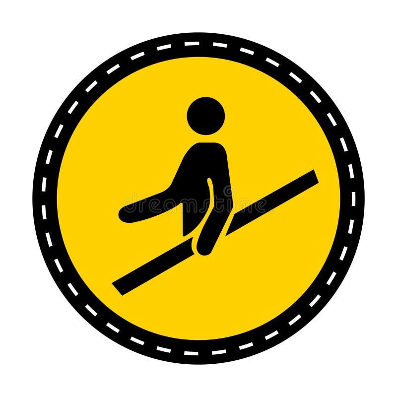 ?cone do PPE Isolado do sinal do símbolo do corrimão do uso no fundo branco, ilustração do vetor ilustração royalty free