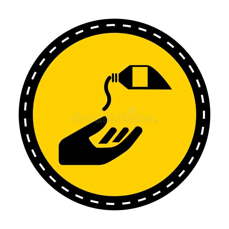 ?cone do PPE Use o isolado de creme do sinal do símbolo da barreira no fundo branco, ilustração do vetor ilustração royalty free