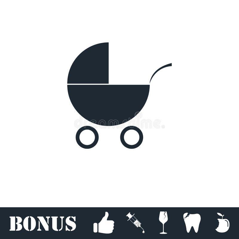 ?cone do Pram liso ilustração royalty free