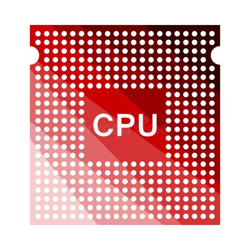 ?cone do processador central ilustração royalty free