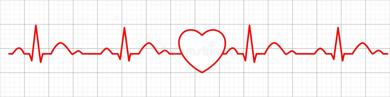 ?cone do pulso do cora??o cardiogram electrocardiogram Ilustra??o do vetor ilustração do vetor