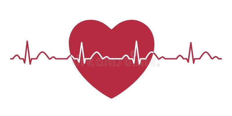 ?cone do pulso do cora??o cardiogram electrocardiogram Ilustra??o do vetor ilustração royalty free