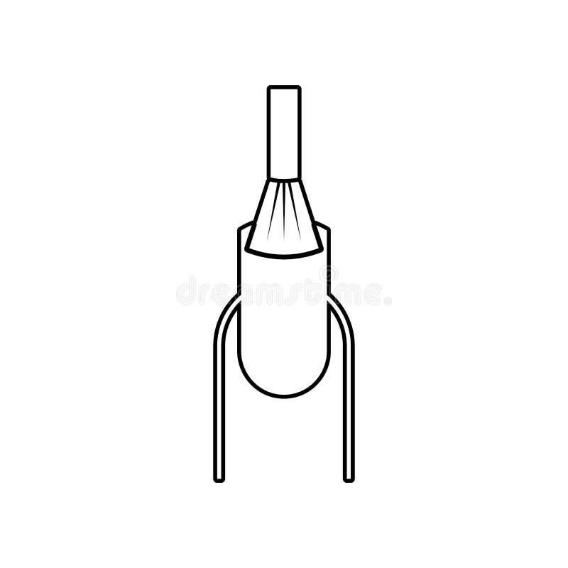 ?cone do revestimento do verniz para as unhas Elemento do sal?o de beleza para o conceito e o ?cone m?veis dos apps da Web Esbo?o ilustração royalty free