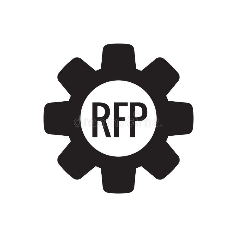 ?cone do RFP - conceito ou ideia do pedido de propostas ilustração stock
