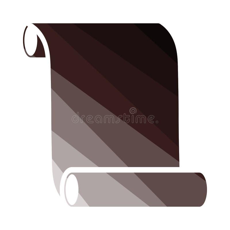 ?cone do rolo da lona ilustração do vetor