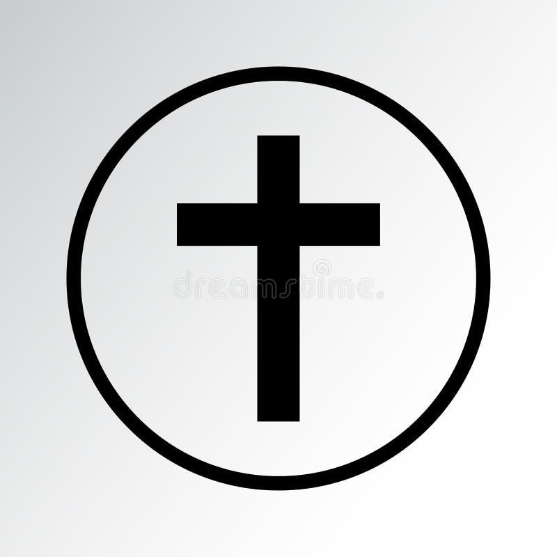 ?cone do s?mbolo da religi?o christianity Ilustra??o do vetor ilustração stock