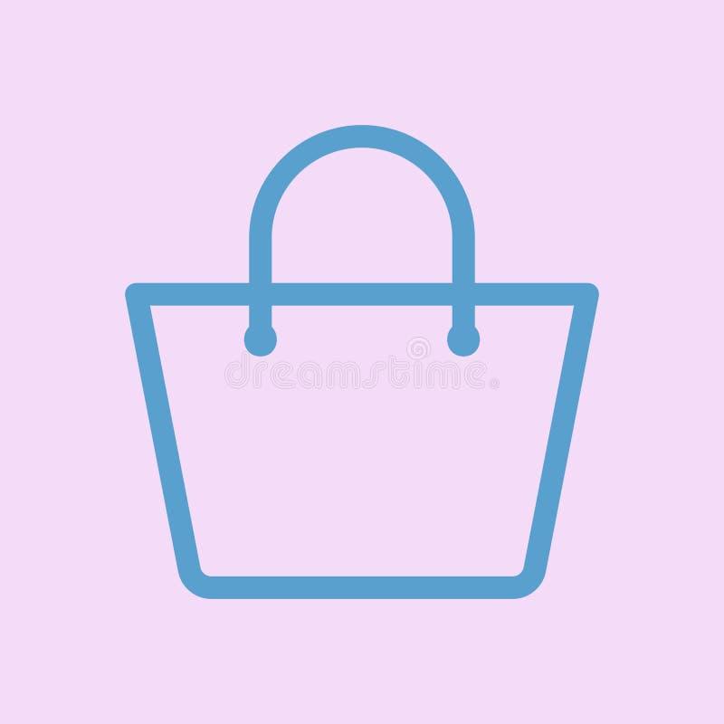 ?cone do saco de compras mulheres dos acessórios ilustração stock