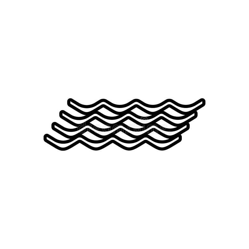 ?cone do sinal das ondas Elemento do tempo para o conceito e o ?cone m?veis dos apps da Web Esbo?o, linha fina ?cone para o proje ilustração stock