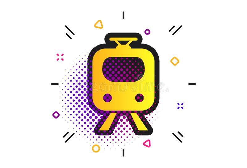 ?cone do sinal do metro Trem, s?mbolo subterr?neo Vetor ilustração do vetor