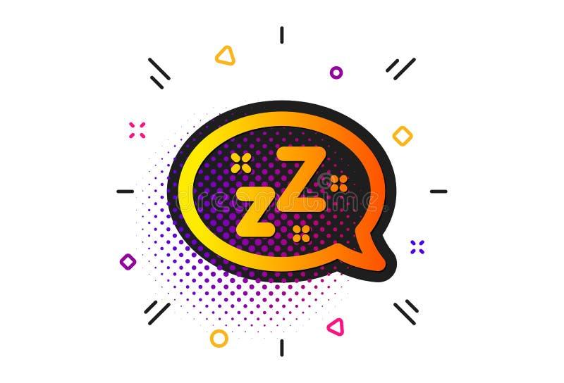 ?cone do sono Sinal da bolha do discurso de Zzz Mensagem do bate-papo Vetor ilustração stock