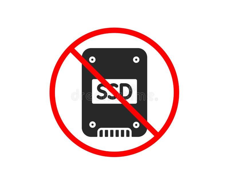?cone do SSD Sinal de circuito integrado da movimenta??o Vetor ilustração stock