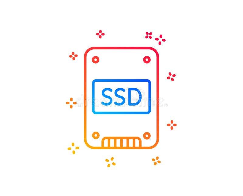 ?cone do SSD Sinal de circuito integrado da movimenta??o Vetor ilustração do vetor