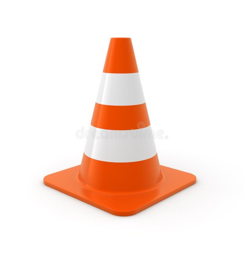 Cone do tráfego ilustração do vetor