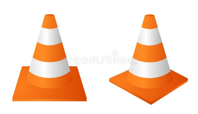 Cone do tráfego ilustração stock