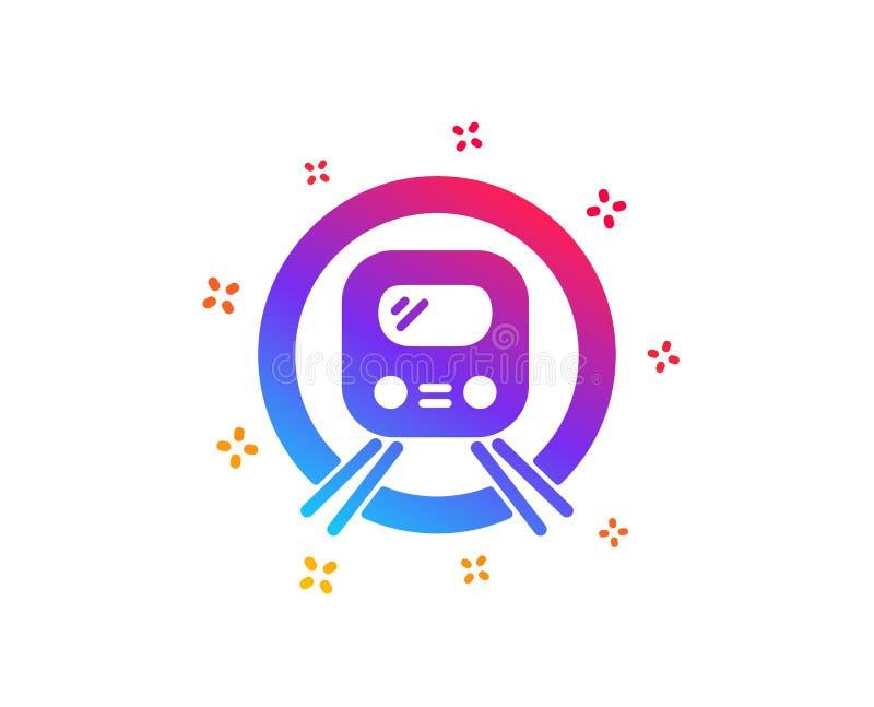 ?cone do transporte do metro do metro Sinal subterr?neo do transporte do p?blico Vetor ilustração do vetor