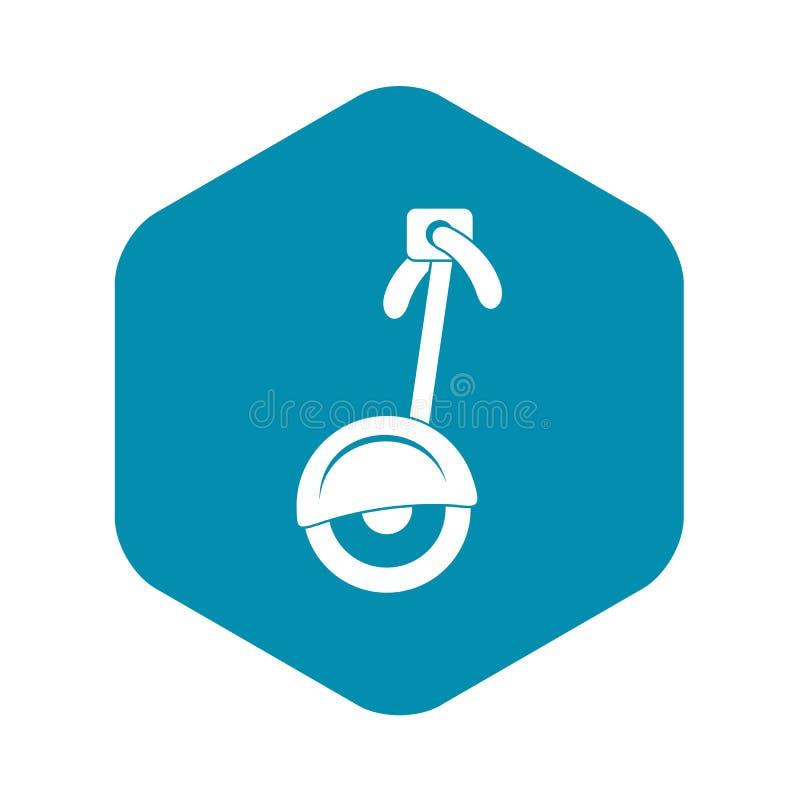 ?cone do Unicycle, estilo simples ilustração do vetor