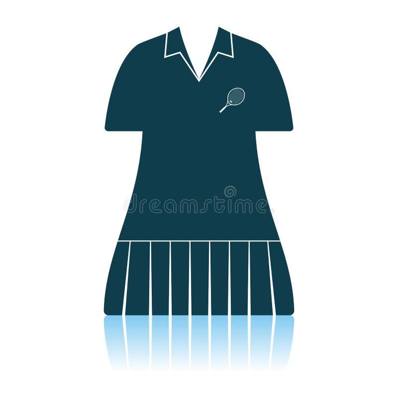 ?cone do uniforme da mulher do t?nis ilustração stock