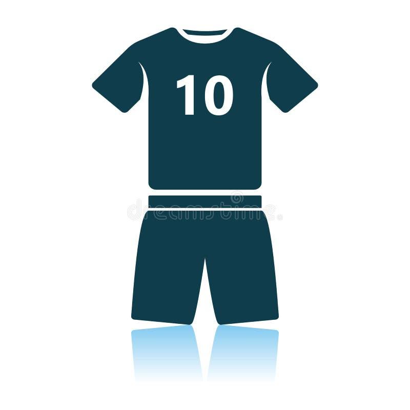 ?cone do uniforme do futebol ilustração royalty free