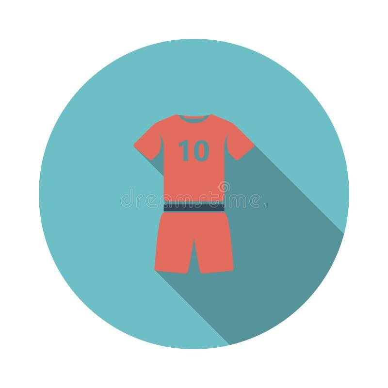?cone do uniforme do futebol ilustração stock