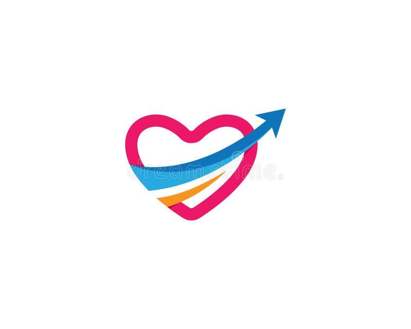 ?cone do vetor do amor ilustração stock
