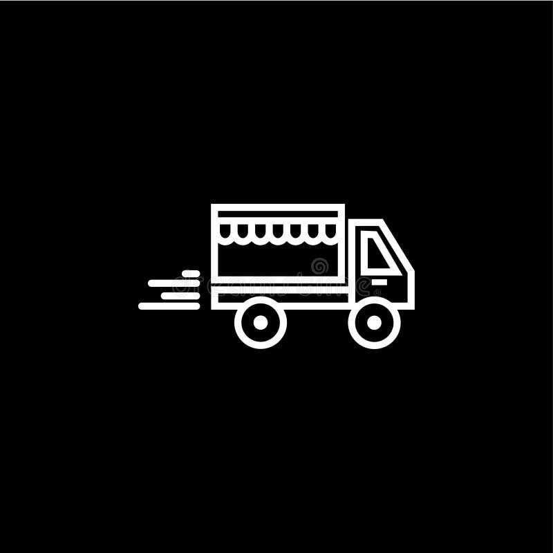 ?cone do vetor do carro de entrega ilustração do vetor